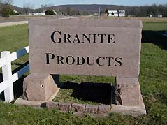Granite Products sign - Missouri Vacations